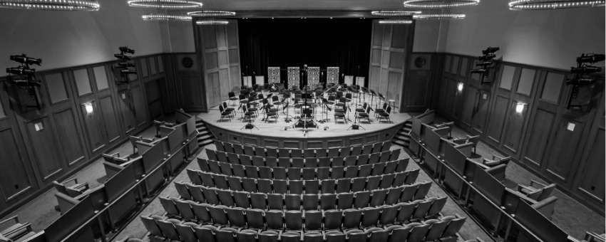 View of empty theater - Enlow Recital Hall