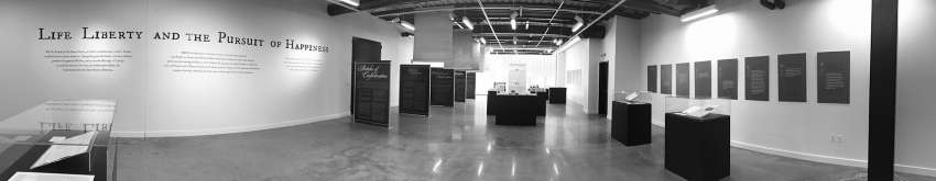 Panorama of the Liberty Hall exhibition space