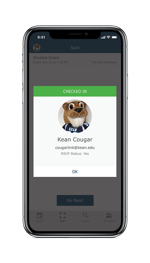 Cougar Link Check-in App