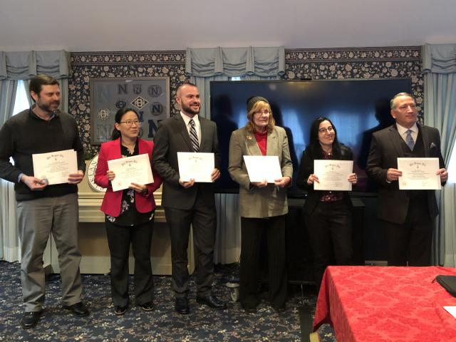 Photo of the six new Faculty/Staff/Alumni Kean University Chapter of the Honor Society of Phi Kappa Phi