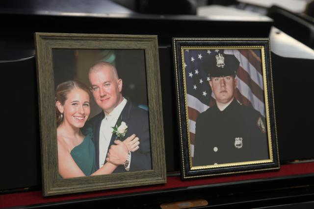 Kean student Hailey Seals father. Detective Joseph Seals was killed in the line of duty
