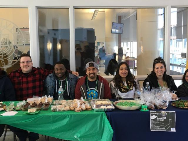 The Kean Criminal Justice Honor Society holds a bake sale.