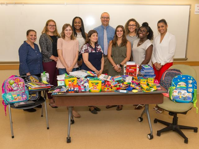 Early Childhood Education students take part in school supplies drive