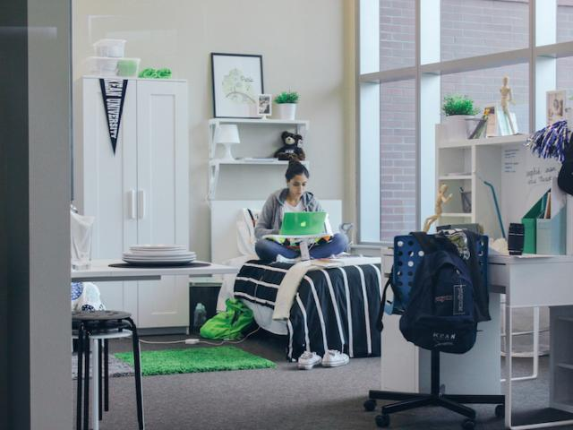 Kean interior design students competed in the IKEA Ultimate Dorm Room Challenge.