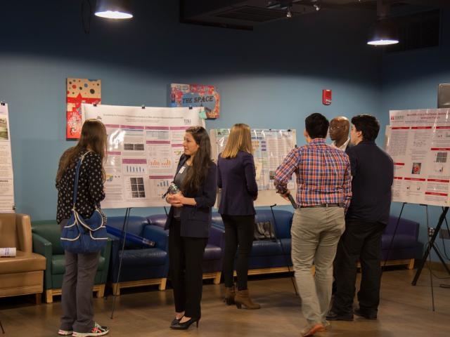 Biology students display research