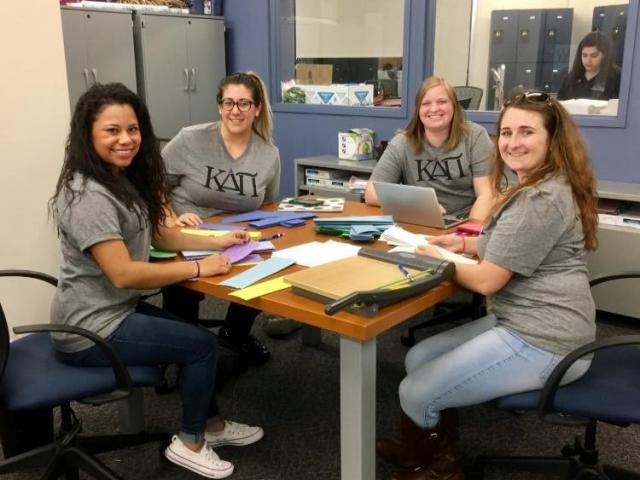 Members of Kappa Delta Pi international honor society in education