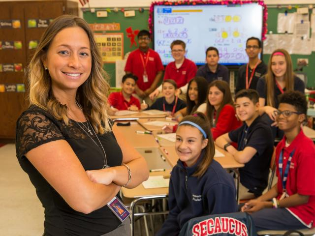 Toni-Ann Palmisano M.A. '13 - Secaucus Middle School math teacher - Milken Educator Award