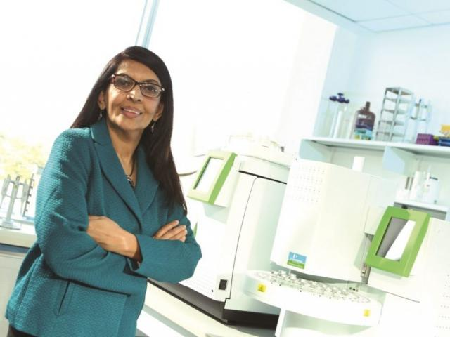 2-year M.S. in Biotechnology Sciences female professor in green coat