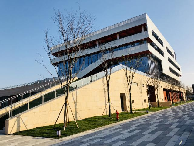 The College of Business and Public Management's new building at Wenzhou-Kean University in China.