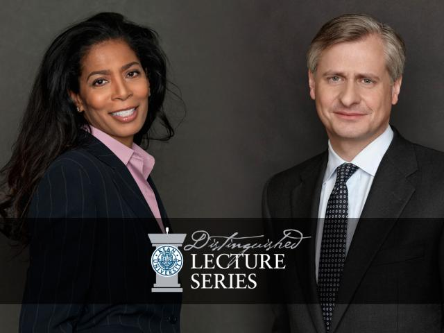Pulitzer prize-winning author Jon Meacham and the woman who inspired the TV series Scandal, Judy Smith, are the first two speakers in Kean's Distinguished Lecture Series this year.