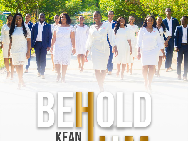 The cover of the Choir's first single Behold Him