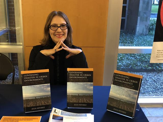 Kean assistant professor of sociology, Julia Navárez, Ph.D. wrote a book on climate change and cities.