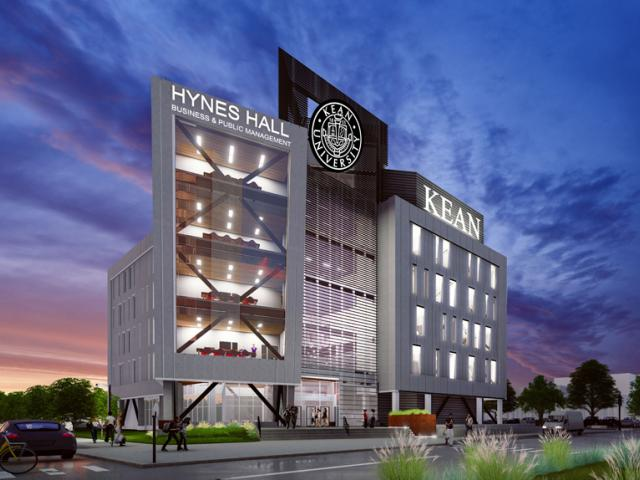 A rendering of Kean University's new Hynes Hall, currently under construction.
