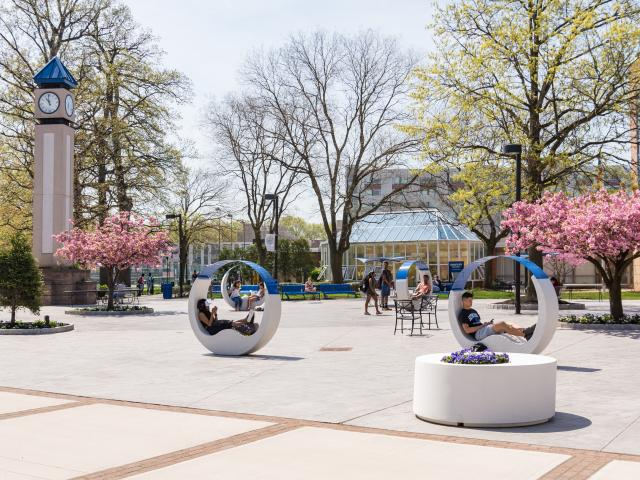 Spring photo of main campus