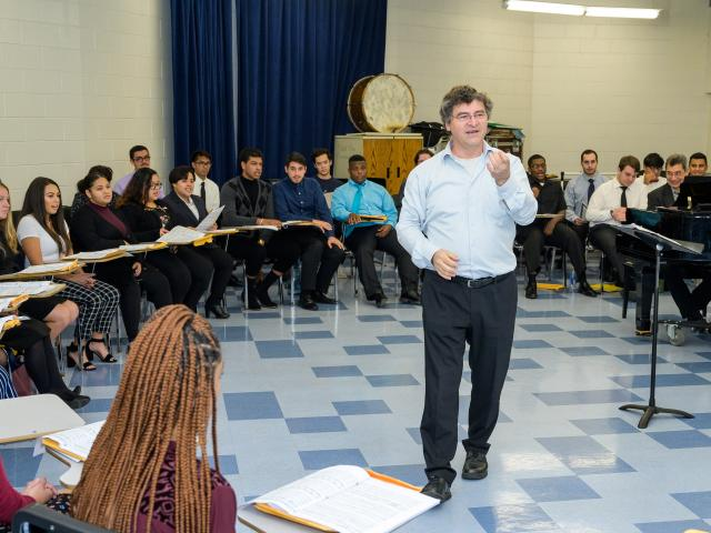 Gerald Wirth worked with Kean's Concert Choir