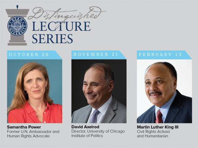 (L-R) Samantha Power, David Axelrod, Martin Luther King III, and Jamie Metzl