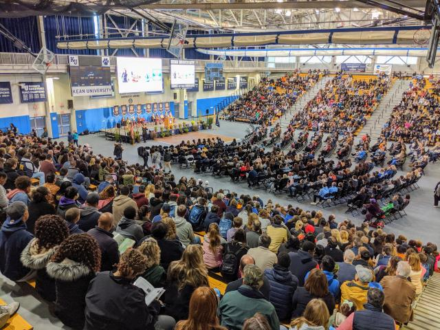 Harwood gym was packed at a Kean Open House in November 2019