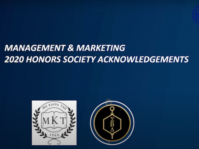 Management and Marketing Honor Societies