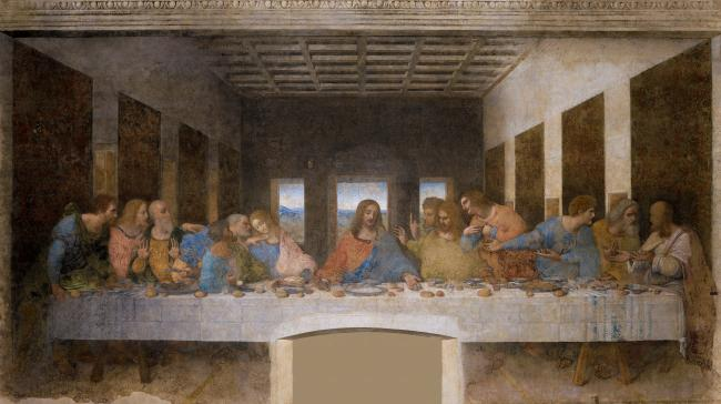 This is an image of Da Vinci's The Last Supper