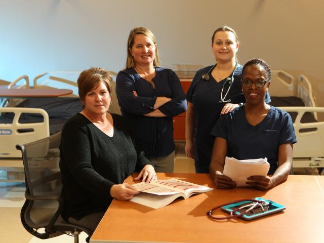 Nursing Department Faculty in North Avenue Academic Building