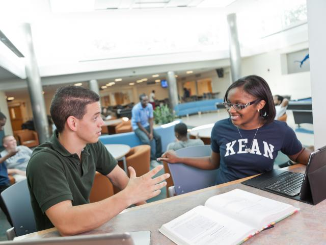Kean students study and learn in the Miron Student Center