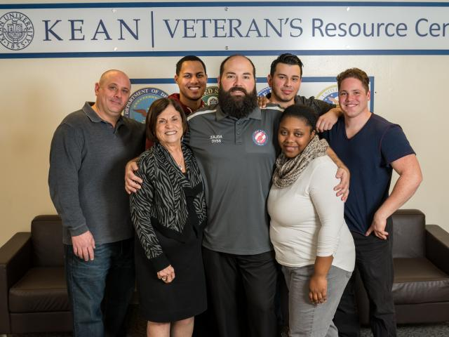 Students and Staff at Kean's Veterans Resource Center