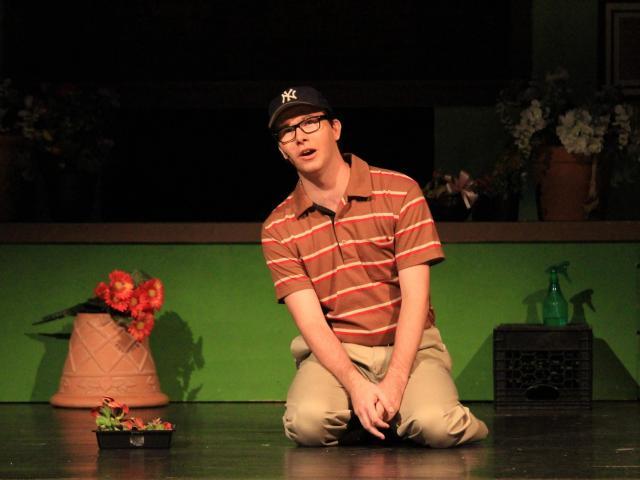 Music Education - Aaron Geusic '20 as Seymour Krelborn in Little Shop of Horrors
