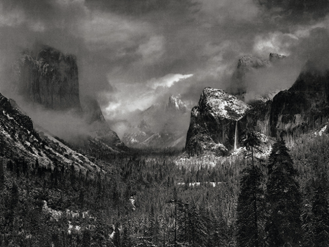 Image from Ansel Adams Exhibition at Kean Galleries