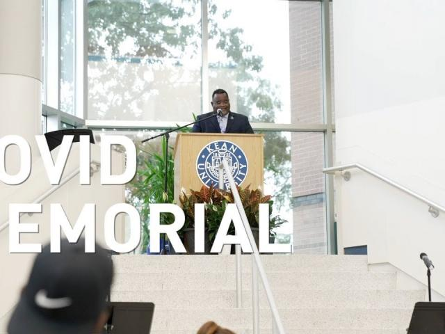 Kean University COVID Memorial Ceremony Sights and Sounds