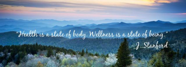 Wellness is a state of being quote