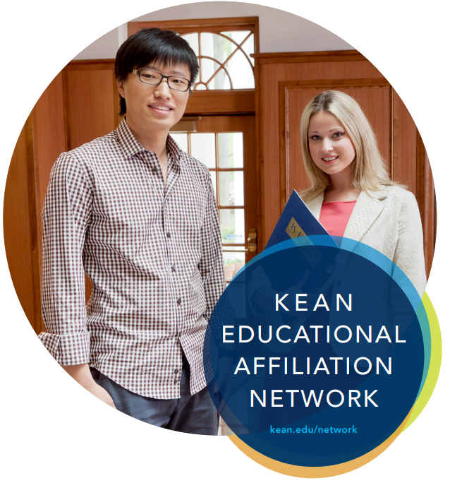 Educational Affiliation Network advertisement with two students posing