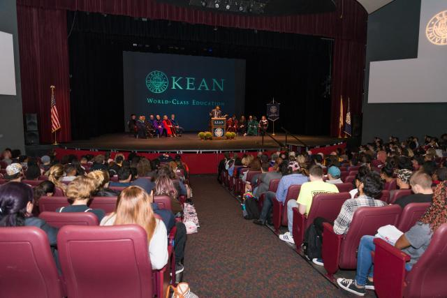 Wilkins Theatre was filled for the first ever College of Liberal Arts Convocation.