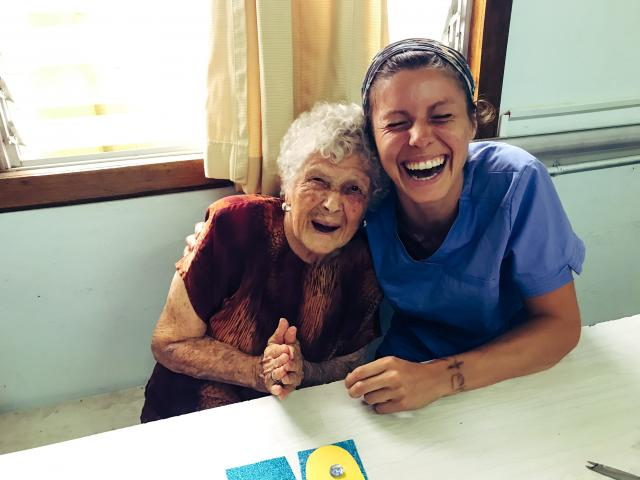 Kean occupational therapy students worked with senior citizens in Costa Rica.