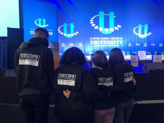 Students turning ideas into action, was the idea behind CGIU -- as well as a motto on the shirts