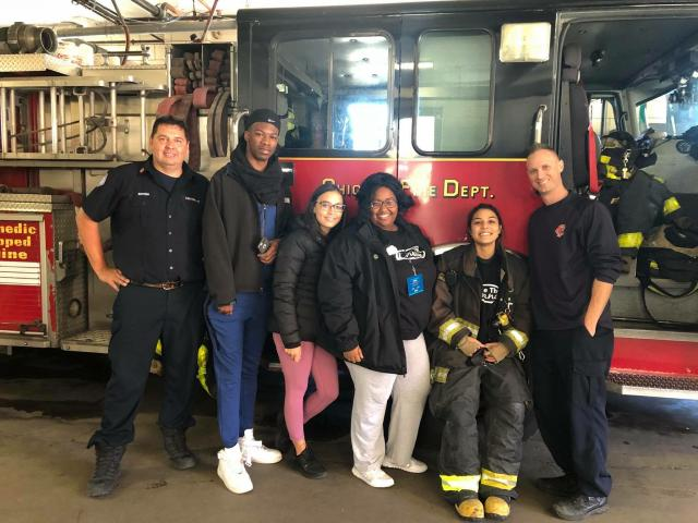 Be the Change visits a Chicago firehouse