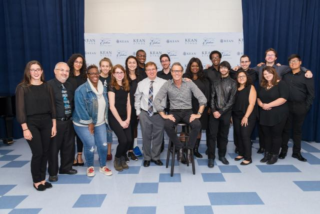 Alumnus Alan Paul worked with students from Kean's Music Conservatory.