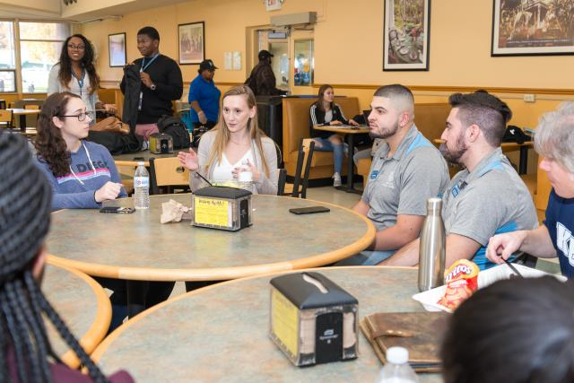 Dean for a Day conducts lunch focus group