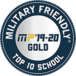 Gold Logo for top 10 military friendly school