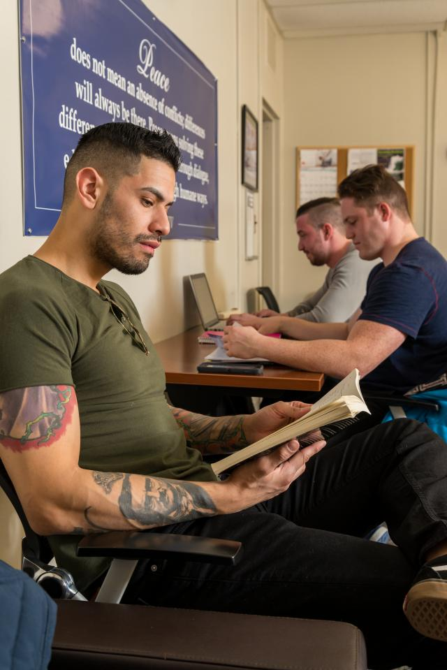 Kean's veterans lounge gives student-veterans a place to socialize and study.