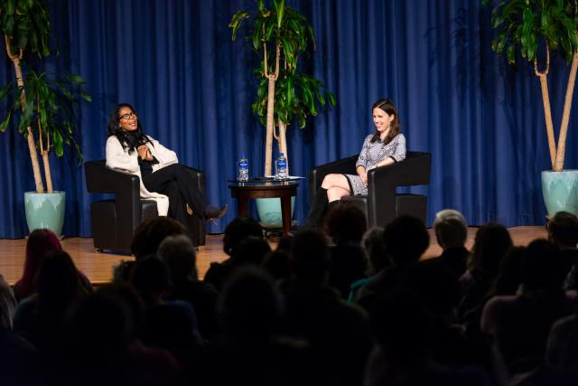 "Judy Smith, the inspiration for TV's 'Scandal,"" speaks with Karen Smith, Kean VP for University Relations"