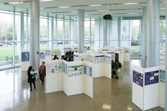Research days student presentation set up at Kean University