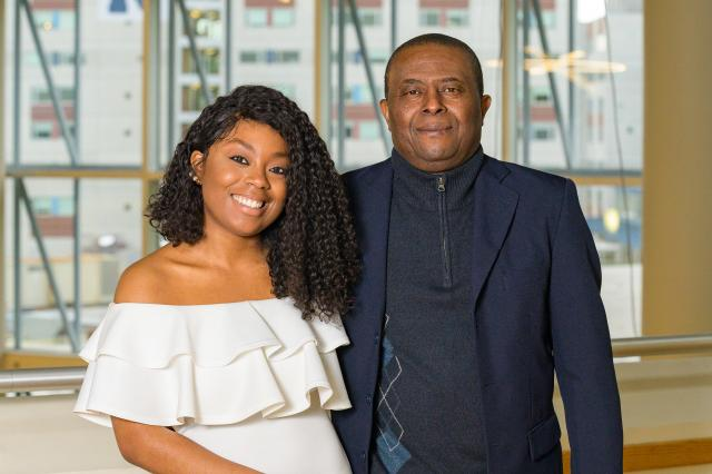 Welena Noel and her father, Wisner, will both graduate from Kean the same day