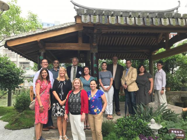 The New Jersey delegation visited Zhejiang Rui'an High School during the STEM forum.