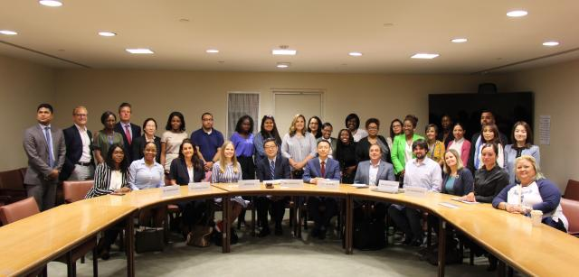 Kean students and faculty discussed careers with United Nations staff