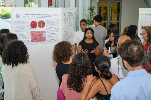 High school students researched STEM topics from medicinal chemistry to machine learning during the summer research program at Kean.