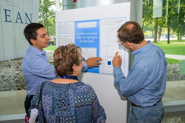 Students learned to conduct research and present their findings through the program.