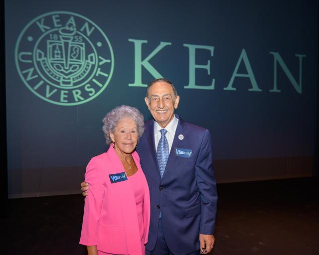 Kean University Board of Trustees Chair Ada Morell and President Dawood Farahi, Ph.D.
