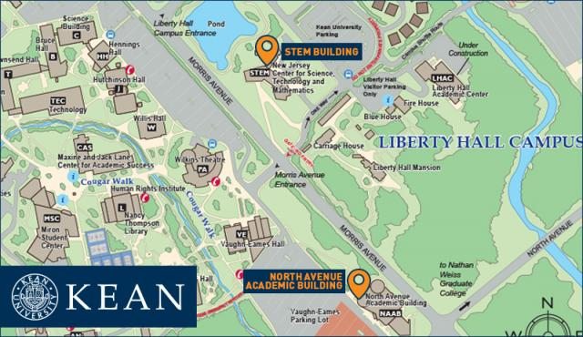 New Student Orientation One-Day Session Map