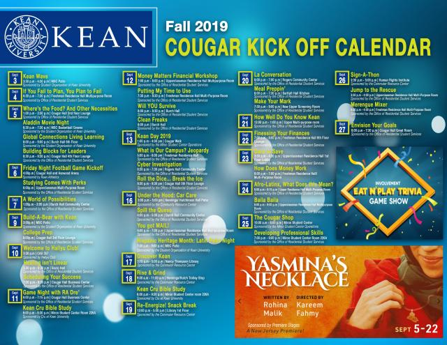 Check out September events on the image below and all of the events on Cougarlink.