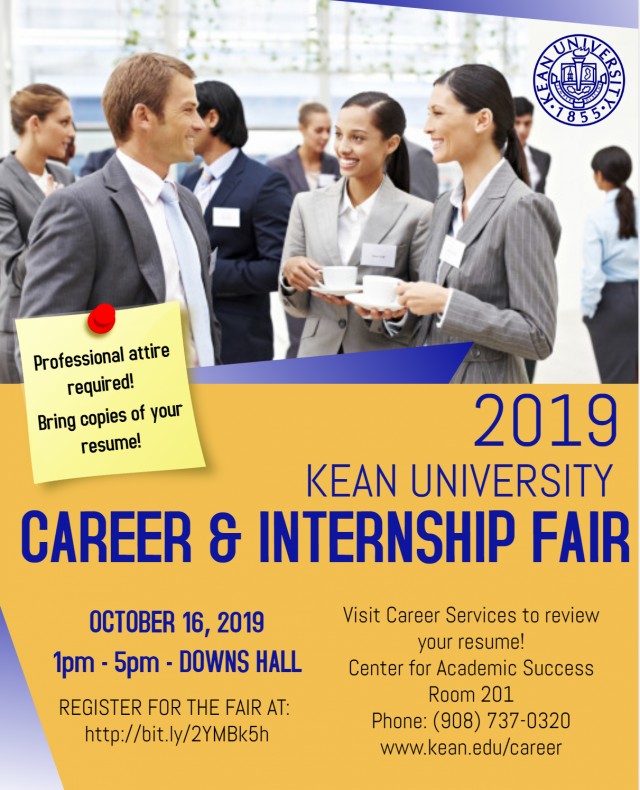 Kean Fall Career and Internship Fair